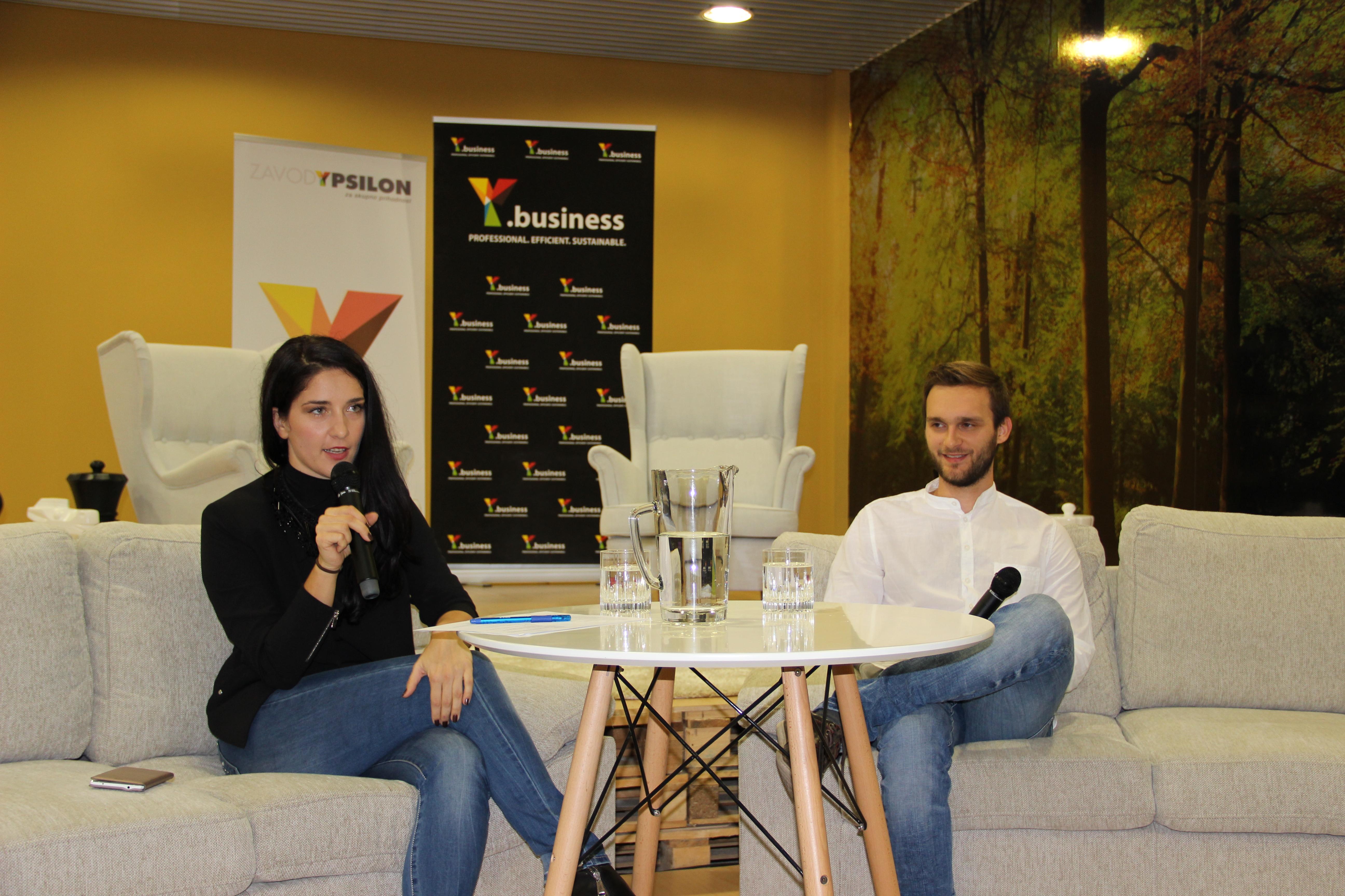 Slika 2: Y.business Success Story z Blažejem Kupcem.